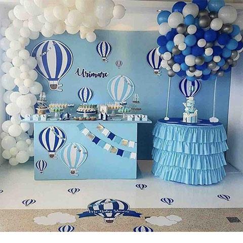 fiesta con temática de globos aerostáticos