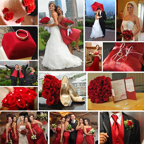 dulcero boda color rojo