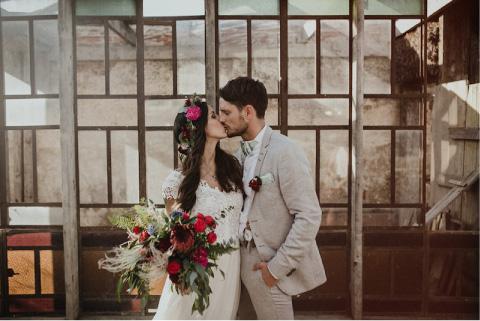 boda tadicional con rosas