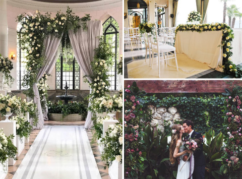 altar para boda con tematica floral