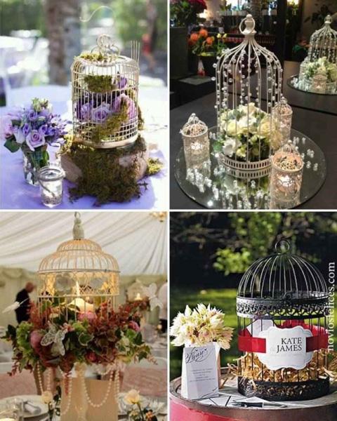 jaulita para boda vintage, centros de mesa de jaulita para boda