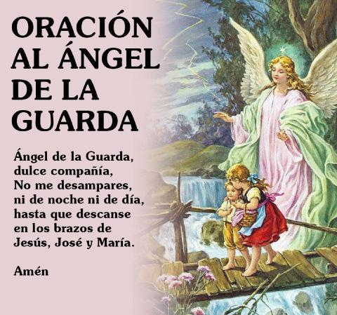 oración del ángel de mi guarda