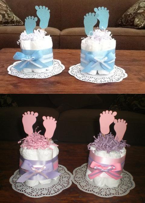Pasteles decorados con temática de piecitos
