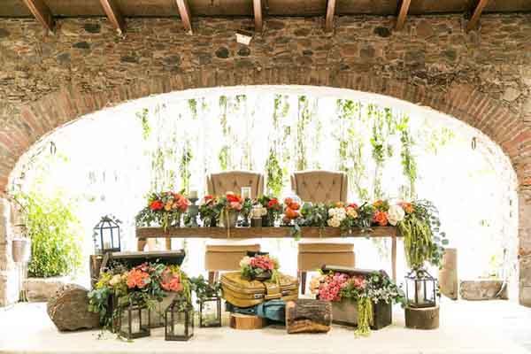 decoracion con tematica de campo y vino