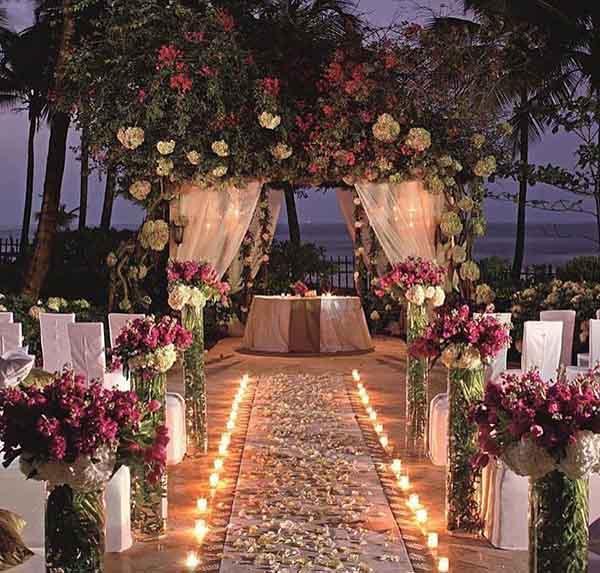 decoracion de boda en playa aire libre