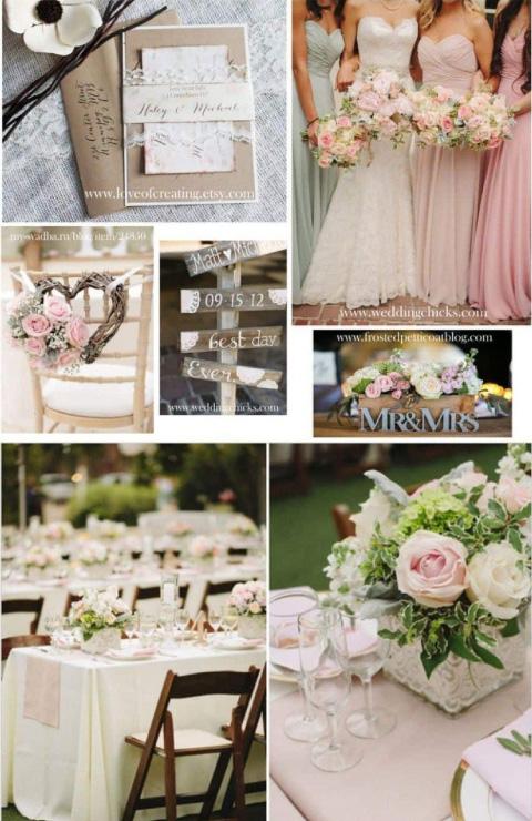 Collage de boda de rosas
