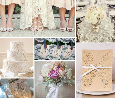ideas para boda rustica o en jardin
