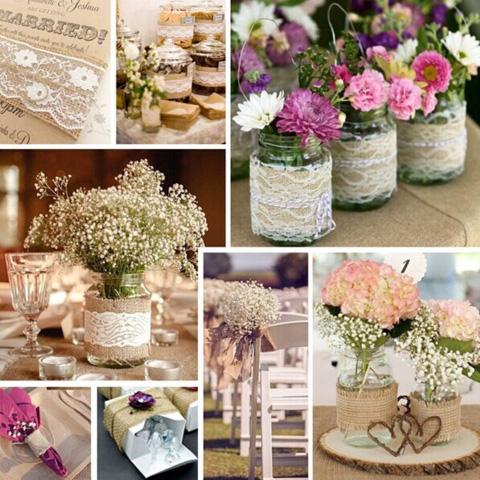 centros de mesa para boda rústica o vintage