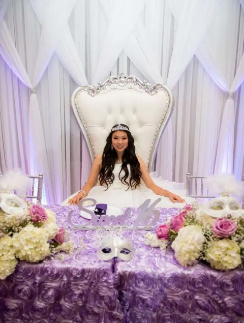 quince años con tematica de princesa, quinciañera vestida como todo una princesa