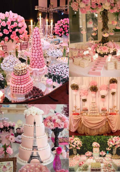decoración y centros de mesa de rosas para xv años