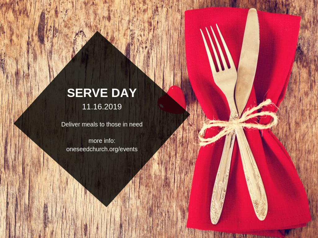 <p>Join us for Family Serve Day on November 16th in O&#39;fallon, Missouri, where we will sort and deliver the items to area food pantries. We will also decorate Thanksgiving-themed placemats for Meals on Wheels on this day.</p>