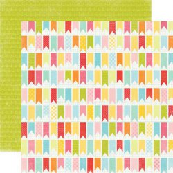 SALE Echo Park Paper 12x12 Hello Summer You've Been Flagged
