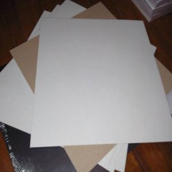 SALE White Chipboard 6 Sheets  Sale