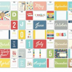 SALE Simple Stories SAMPLER 2015 Life Documented Collection Snap Cards 76 pcs.