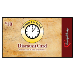 Hungry For Lunch Discount Card