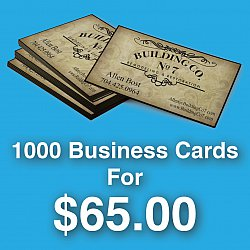 Business Cards For Charity Order (1000 Cards)