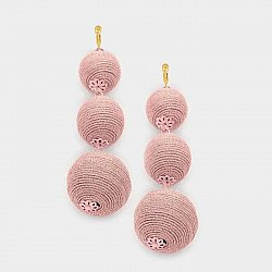 Triple Pink Ball Earrings - Seen on Today Show, INCLUDES 20% Breast Cancer Donation