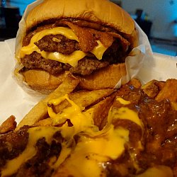 #3 Chubz Double Deluxe Burger