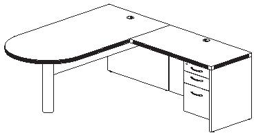 L Shape Desk Plan