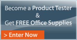 Become a Product Tester & get FREE office supplies