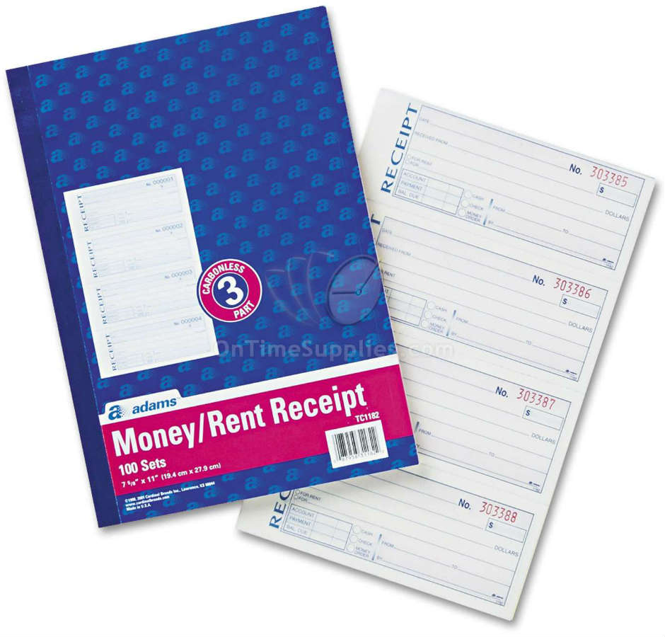 ABFTC1182 Receipt  Form Book by Adams Business Forms