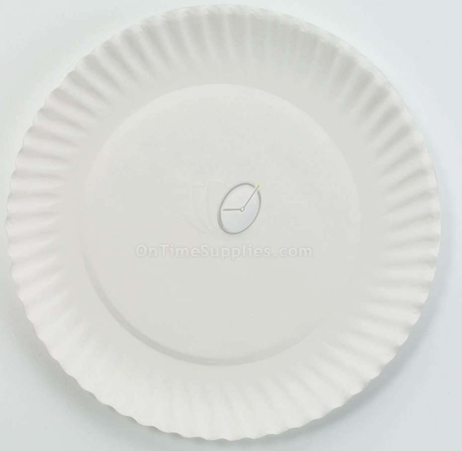 Disposable White Paper Plates, AJM Packaging Corporation