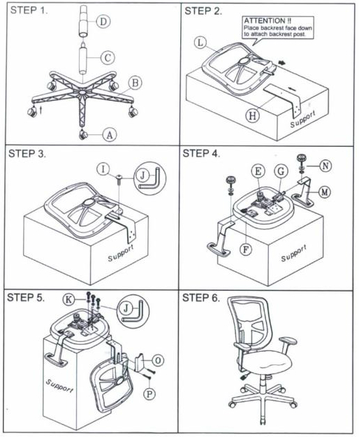 Alera Elusion Office Chair Assembly step by step.