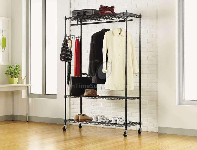 Alera 174 Wire Shelving Garment Rack Ontimesupplies Com Ontimesupplies Com