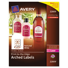 Avery® Textured Arched Easy Peel® Labels