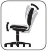Asynchronous Control: ergonomic desk chair feature