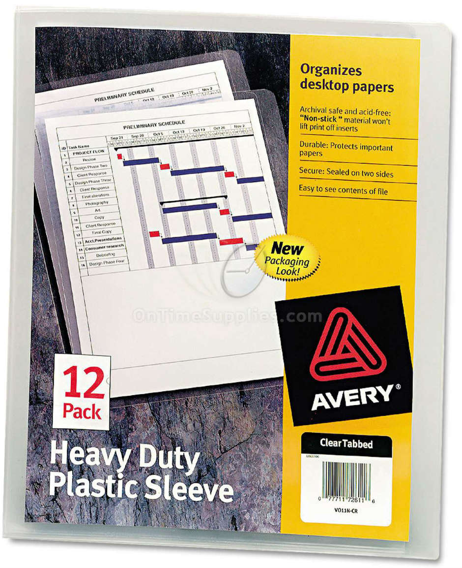 Avery Heavy-Duty Plastic Sleeves