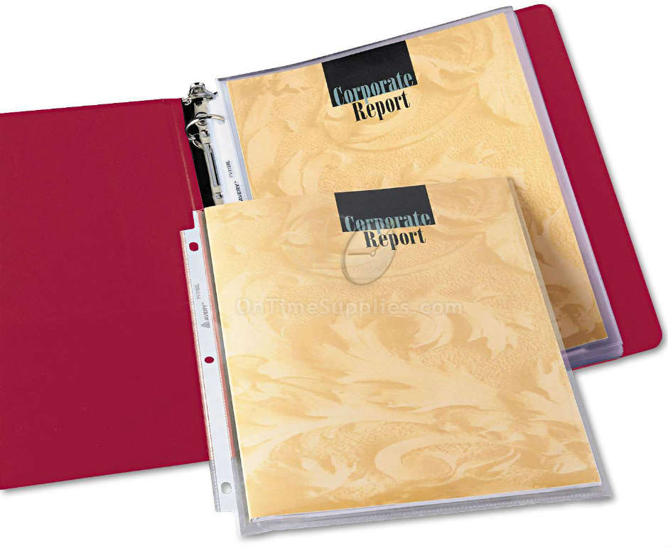 AVE74171 Avery  top loading nonstick sheet protectors, 50 page capacity