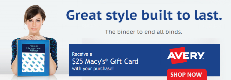 FREE Macy's Gift Card with $75 of Avery Products