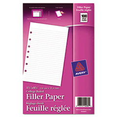 Avery® Mini Binder Filler Paper