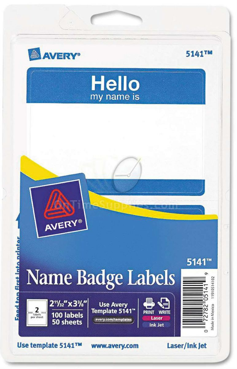 Avery® Printable Self-Adhesive Name Badges