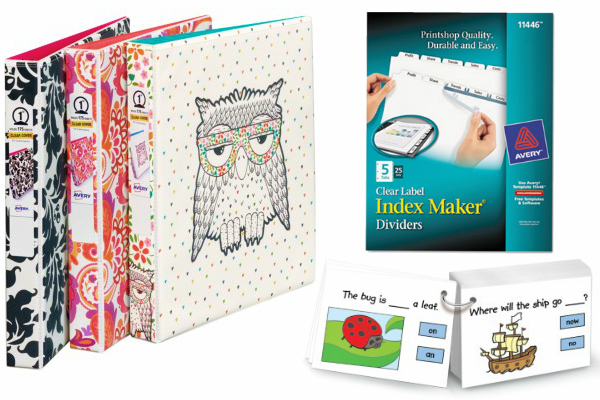 $800 in Avery Dry Erase Markers, Binders, Flash Cards & More!