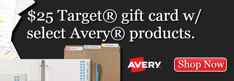 $25 Target Gift Card with Avery Rebate