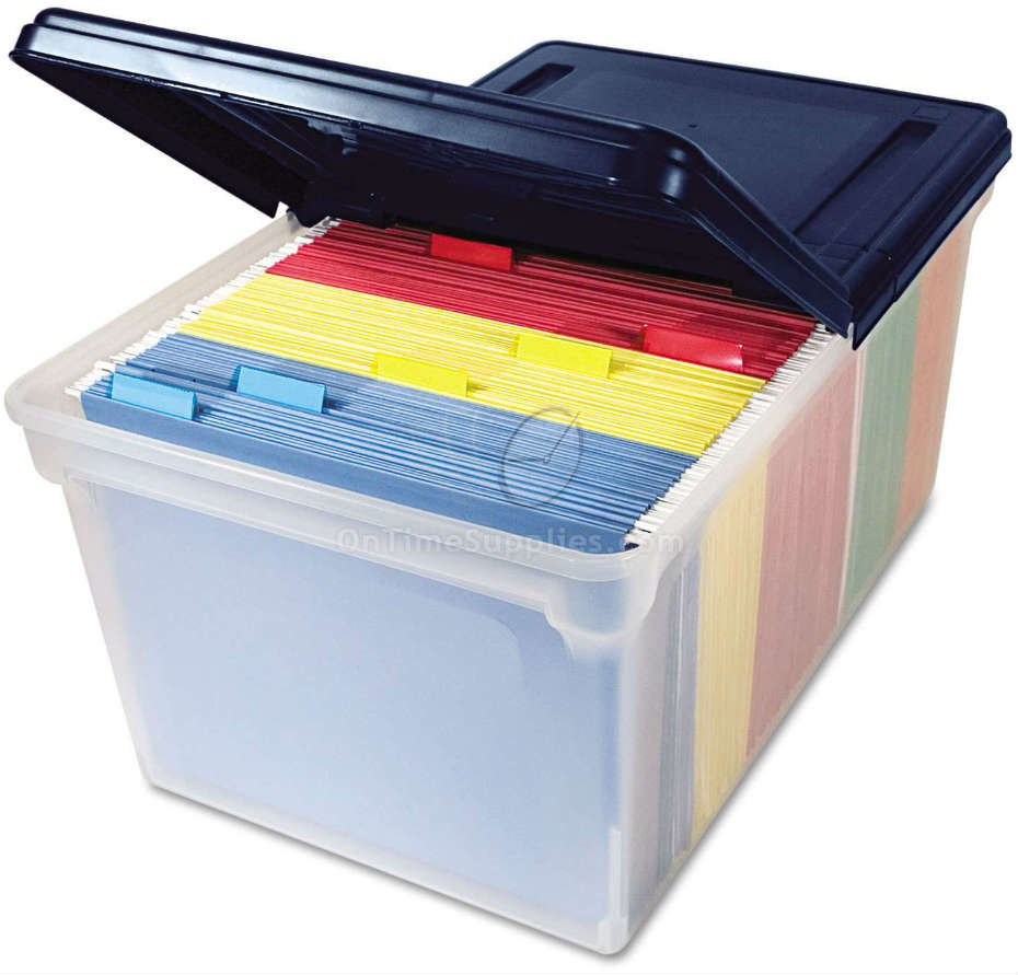 AVT55797 Plastic Storage Bins with Lids | OnTimeSupplies ...