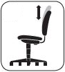 Back Height Adjustment: ergonomic desk chair feature