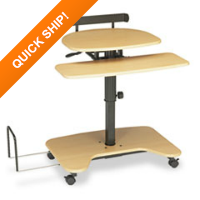BALT® Hi-Hi-Lo Adjustable Pneumatic Sit/Stand Computer Workstation