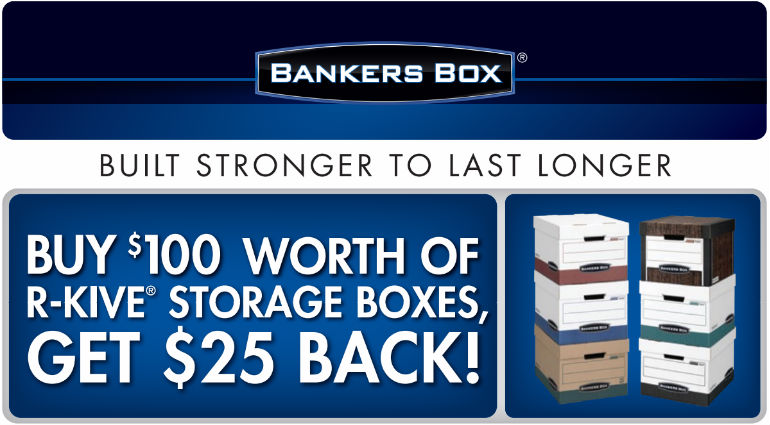 Bankers Box R-Kive Storage Boxes Mail in Rebate