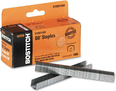 "3/8"" B8 Powercrown Staples by Stanley Bostitch"