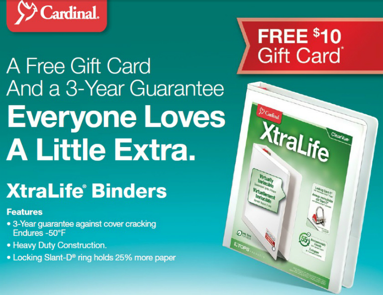 Cardinal 3 Ring Binders Mail in Rebate