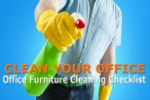 Checklist for cleaning office furniture: clean your whole office in minutes.