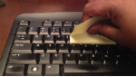 Tip: use sticky notes to clean your keyboard.