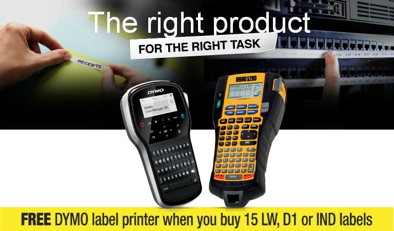 Free DYMO Label Printer with Fifteen DYMO Labels