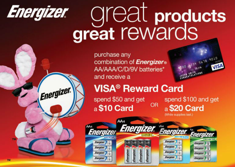 Energizer Batteries Mail in Rebate