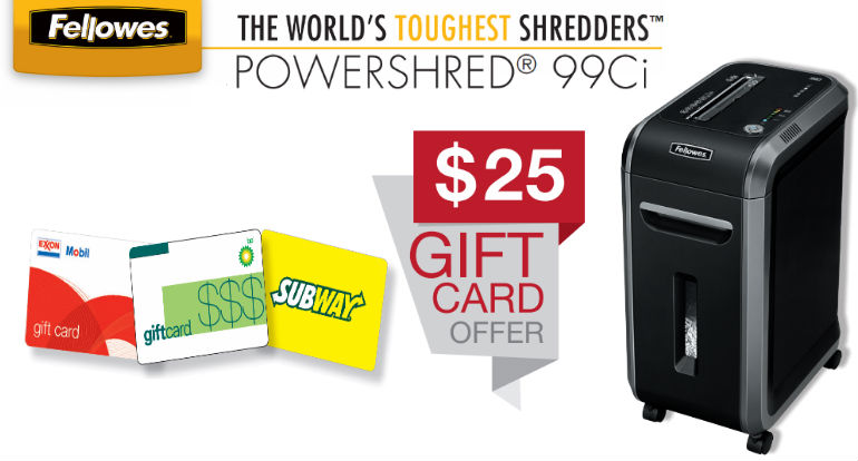 Fellowes Powershred 99Ci Paper Shredder Mail in Rebate