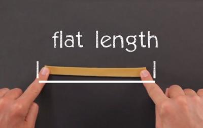 Rubber Band Flat Length