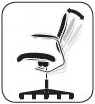 Hip Pivot Motion: ergonomic desk chair feature